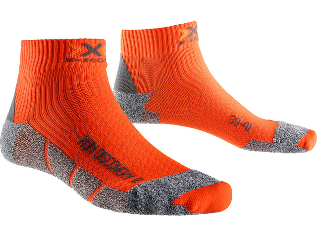 X-Socks M's Run Discovery Socks Orange Sunshine/Grey Mouline